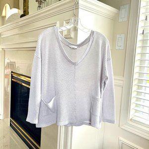 SADIE & SAGE Light Gray Sweater